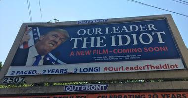 Anti-Trump Billboard in Union, New Jersey