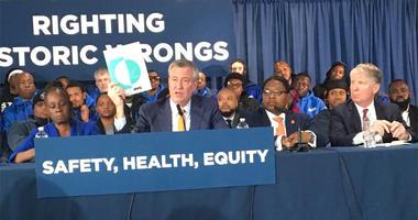 Bill de Blasio announces support for legal marijuana