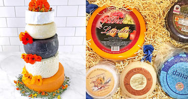 Wedding Cake From Costco Is 5 Tiers of Cheese Wheels