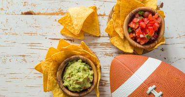 Football and nachos