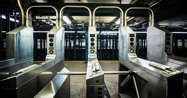 New York City subway turnstile
