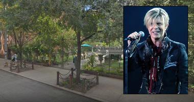 David Bowie Elizabeth Street Garden