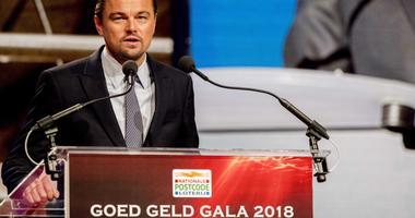 Leonardo DiCaprio giving a speech