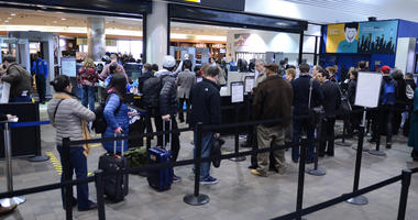 TSA airport security line