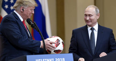Putin Gives Trump Soccer Ball