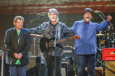 Jeff Cook, Randy Owen, and Teddy Gentry from the band Alabama