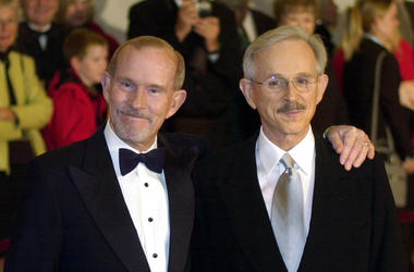 The Smothers Brothers, Tom Smothers, left, and Dick Smothers