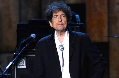 Bob Dylan appears onstage at the 25th anniversary MusiCares 2015 Person Of The Year Gala