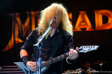 Dave Mustaine of Megadeath performs at Ozzfest