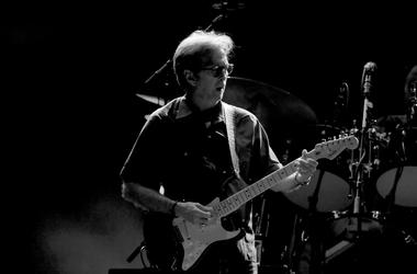 Musician Eric Clapton performs at The Forum on September 18, 2017