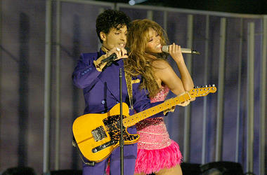 Prince and Beyonce at the GRAMMYs