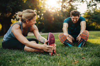 Outdoor Exercise Couple