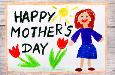 Child's Mother's Day drawing