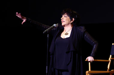 Liza Minnelli performs at the 40th Anniversary Chaplin Award Gala