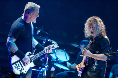 James Hetfield and Kirk Hammet of Metallica