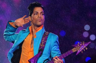 Prince performs at half time during Super Bowl XLI.