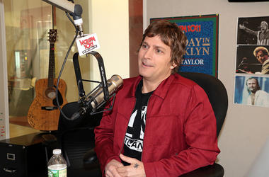 Rob Thomas with Scott Shannon and Patty Steele at WCBS-FM in NYC
