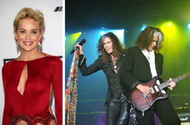 Sharon Stone and Aerosmith