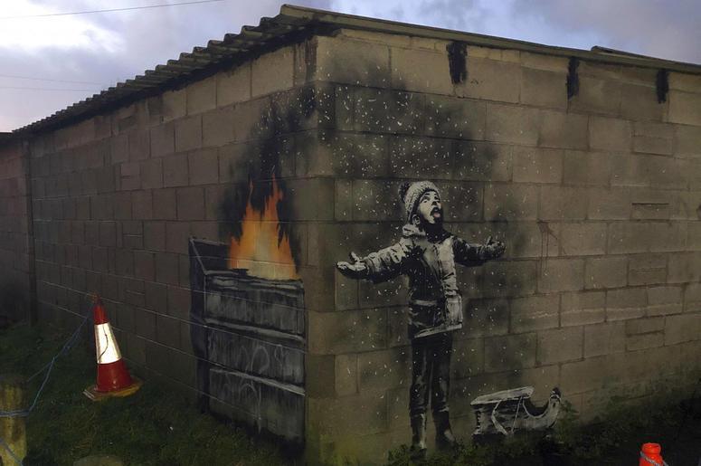 Banksy Wales Piece