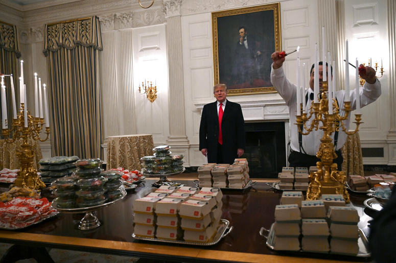 Donald Trump Burger Fest for Clemson Tigers