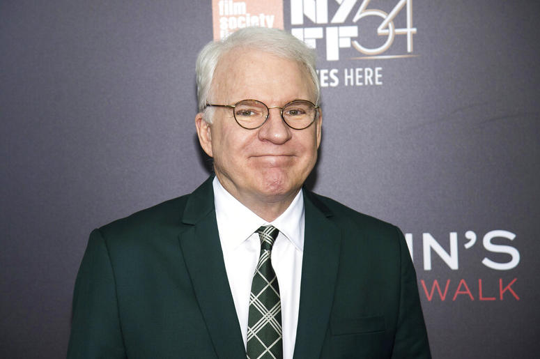 """This Oct. 14, 2016 file photo shows Steve Martin at the world premiere of """"Billy Lynn's Long Halftime Walk"""", during the 54th New York Film Festival in New York. Celadon Books announced Monday that Martin and New Yorker artist Harry Bliss were collaboratin"""