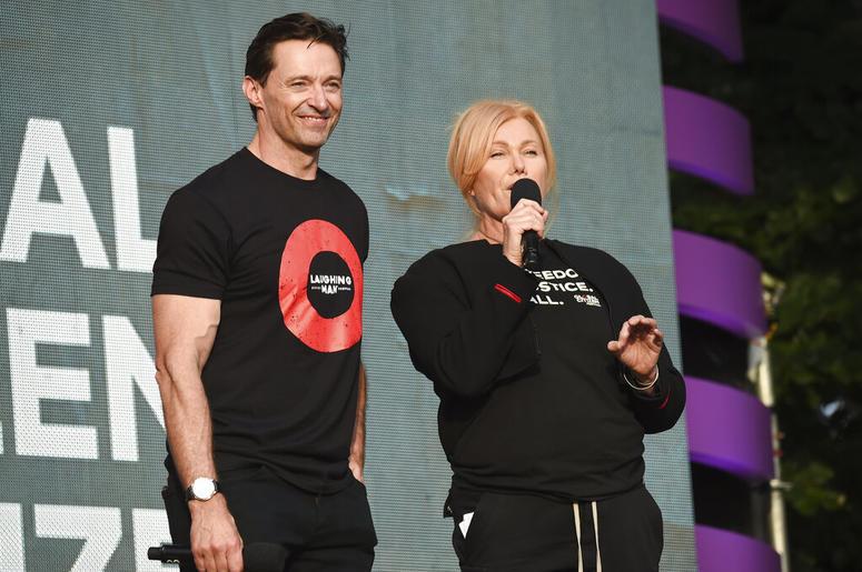 Hugh Jackman and his wife, Deborra-Lee Furness