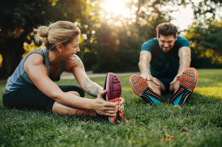 Outdoor Exercise Couple