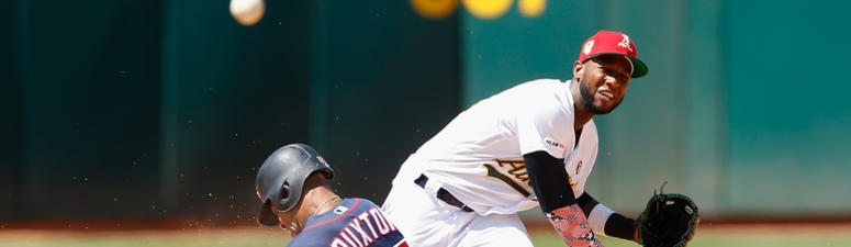 Marcus Semien hits grand slam, solo homer as A's beat Twins