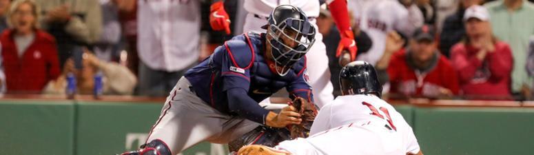 Twins catcher Jason Castro makes the tag