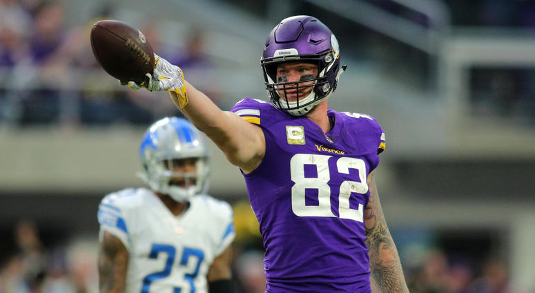 Vikings tight end Kyle Rudolph