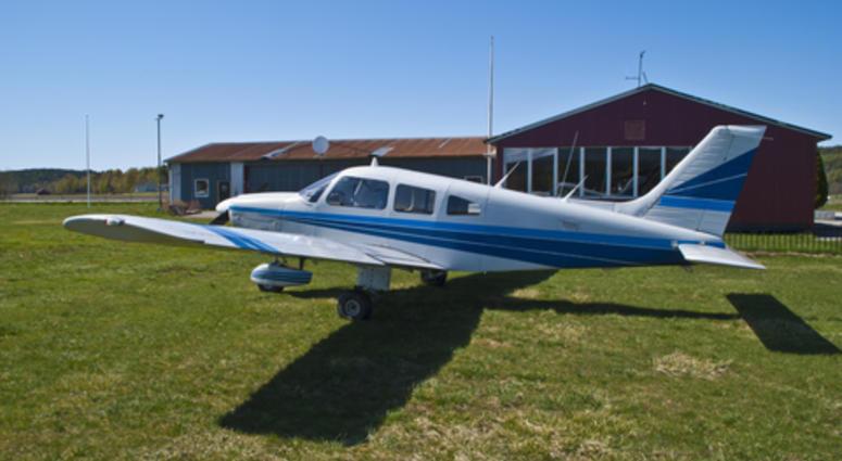 Stock photo of small plane