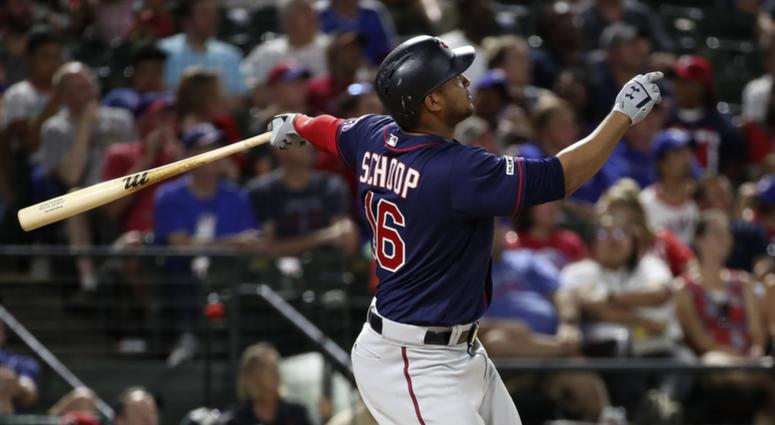 Schoop shines as Twins beat Rangers