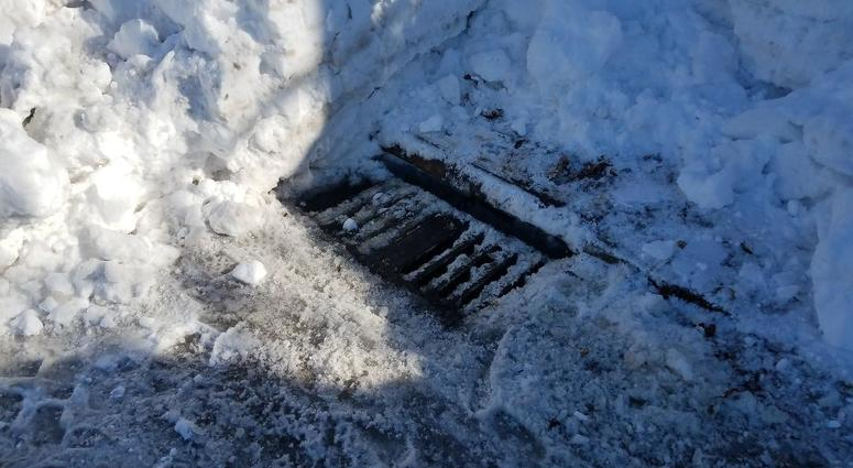 Cleared storm drain