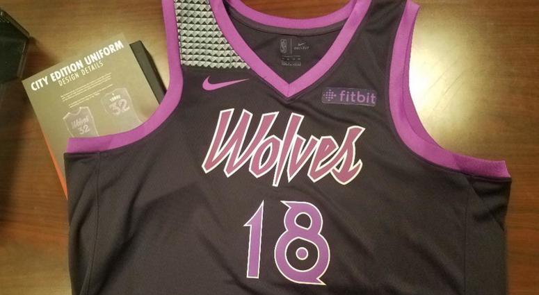 online retailer c4289 54b62 Timberwolves unveil Prince-themed uniform   WCCO