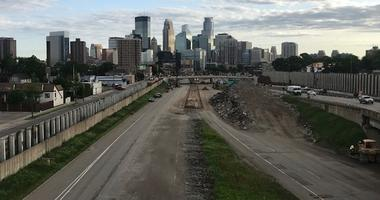 Shot from 24th Avenue pedestrian bridge on its final day