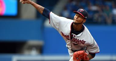 Ervin Santana Makes his first start of the season