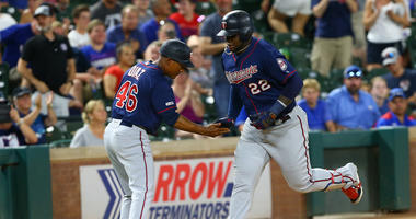 Twins third baseman Miguel Sano rounds third