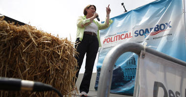 Klobuchar at Iowa State Fair