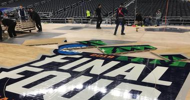 Floor installation at US Bank Stadium