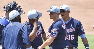 Twins meet at the mound