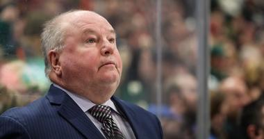 Bruce Boudreau coaches the Wild