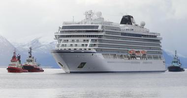 Viking cruise ship in Norway
