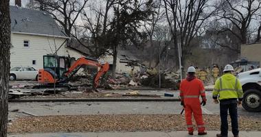 House blast in St Paul