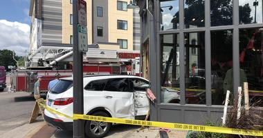 No injuries after SUV slams into St. Paul building