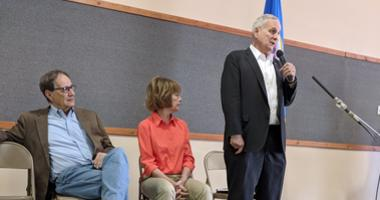 Dayton talks storm relief in southwestern Minnesota