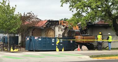 Lola restaurant building comes down