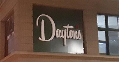 New Daytons sign