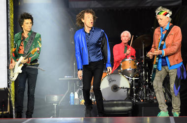 Ronnie Wood, Mick Jagger, Charlie Watts and Keith Richards of The Rolling Stones