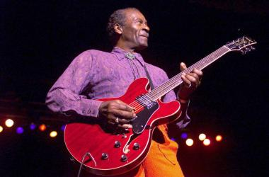 Chuck Berry performs live