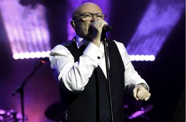 Recording artist Phil Collins performs in the Little Dreams Foundation concert at Jackie Gleason Theatre.